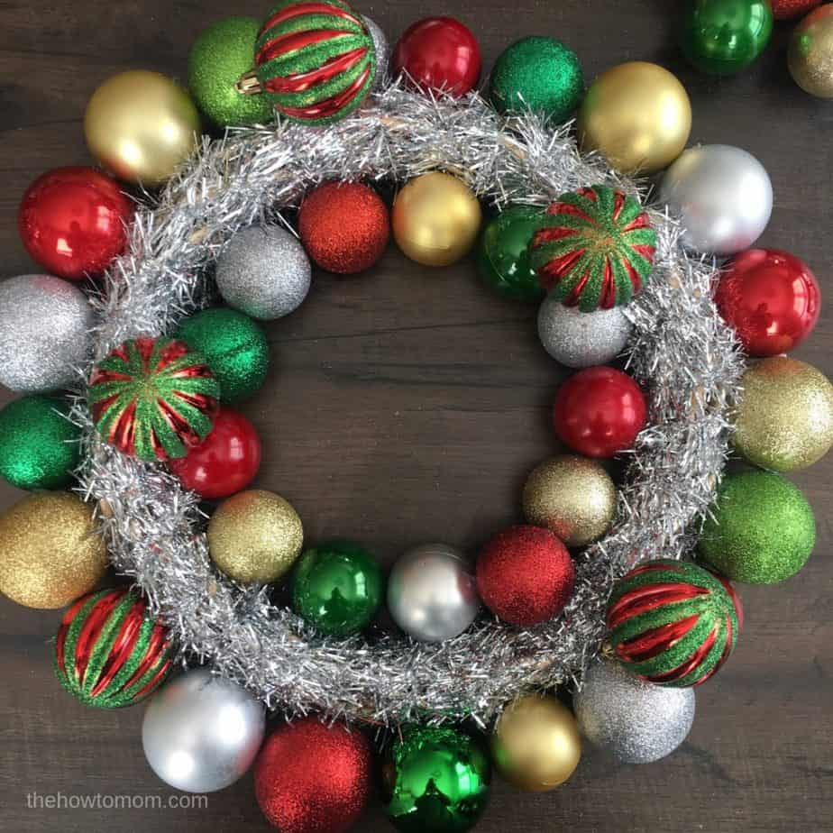Christmas Ornament Wreath DIY