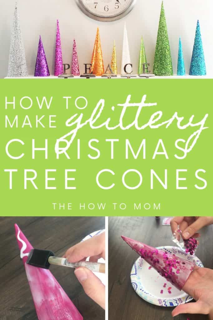 How to make glittery Christmas tree cones - easy!