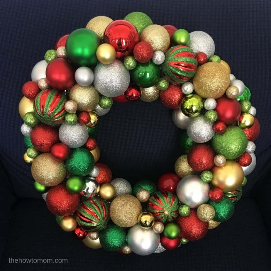 Ornament Wreath - Easy Holiday DIY