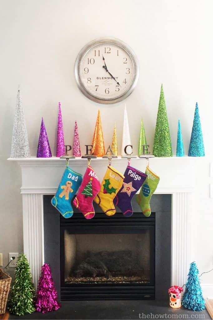 Rainbow Christmas Tree Cones - Bright and Colorful Christmas Decor