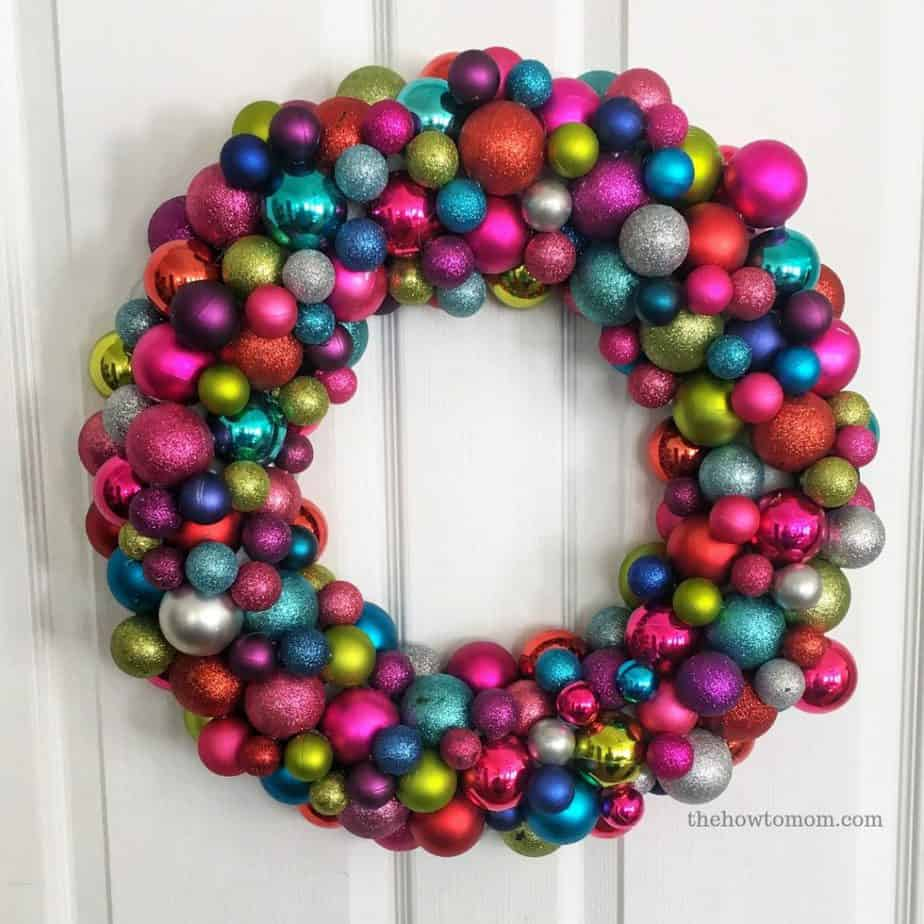 Bright and Colorful Ornament Wreath DIY