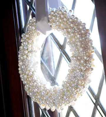 White Pearl Wreath from BHG - January Wreath Ideas
