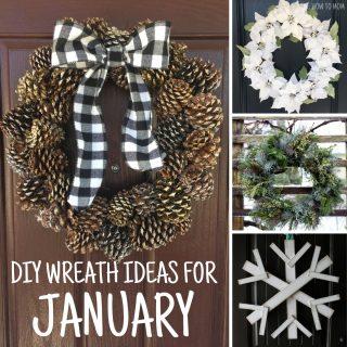 January Wreath Ideas - DIY Winter Wreaths