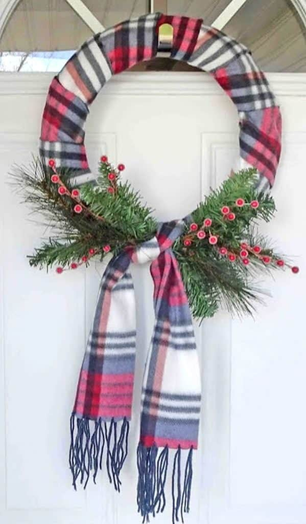 Scarf Wreath from Kimspired DIY - January Wreath Ideas