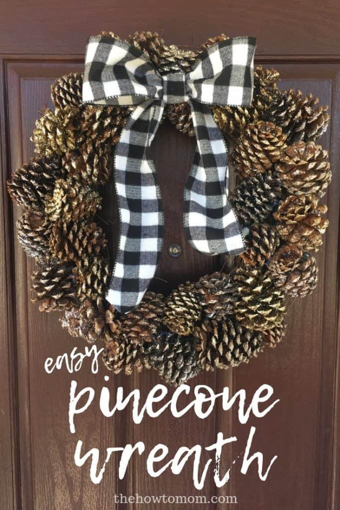 Easy Pinecone Wreath DIY