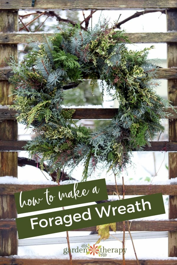 Fresh Foraged Wreath from Garden Therapy - January Wreath Ideas