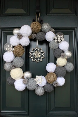 Snowball Wreath from Two Junk Chix - January Wreath Ideas