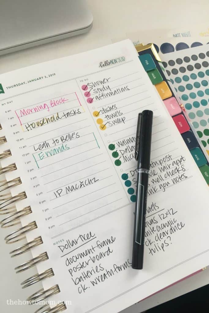 The How To Mom Simplified Planner