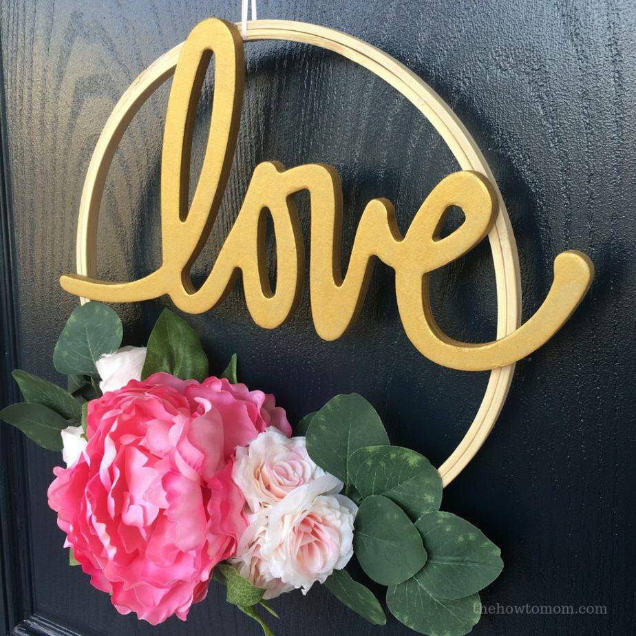Valentines Hoop Wreath DIY