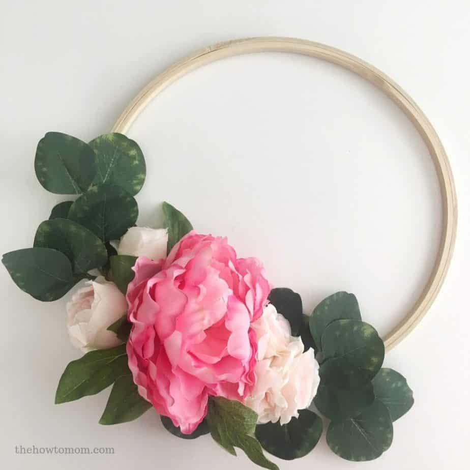 Peony Hoop Wreath