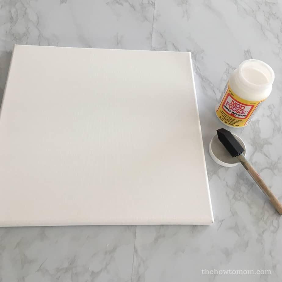 Using Mod Podge on canvas