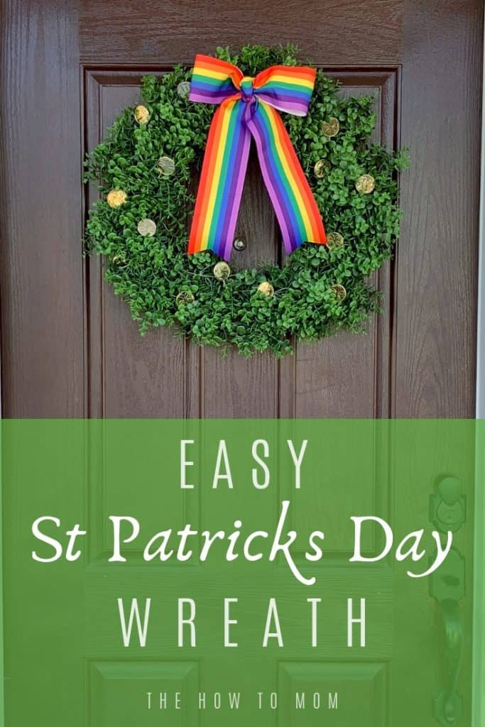 Easy St Patricks Day Wreath Idea
