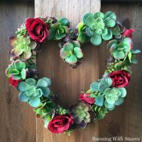 On-Trend Succulent Heart Wreath