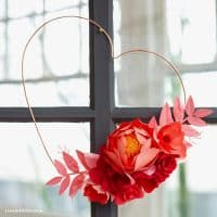 Modern Copper Wire Heart Wreath