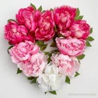 Ombre Peony Heart Wreath DIY