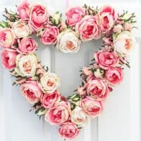 Heart Wreath DIY Tutorial with English Rose Blooms