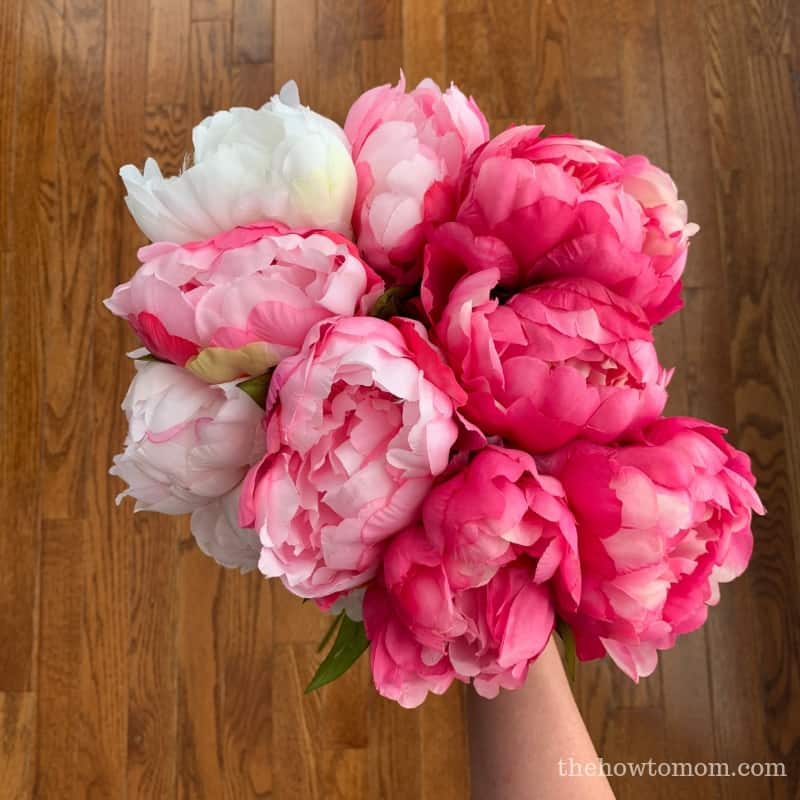 Ombre pink peony bouquet