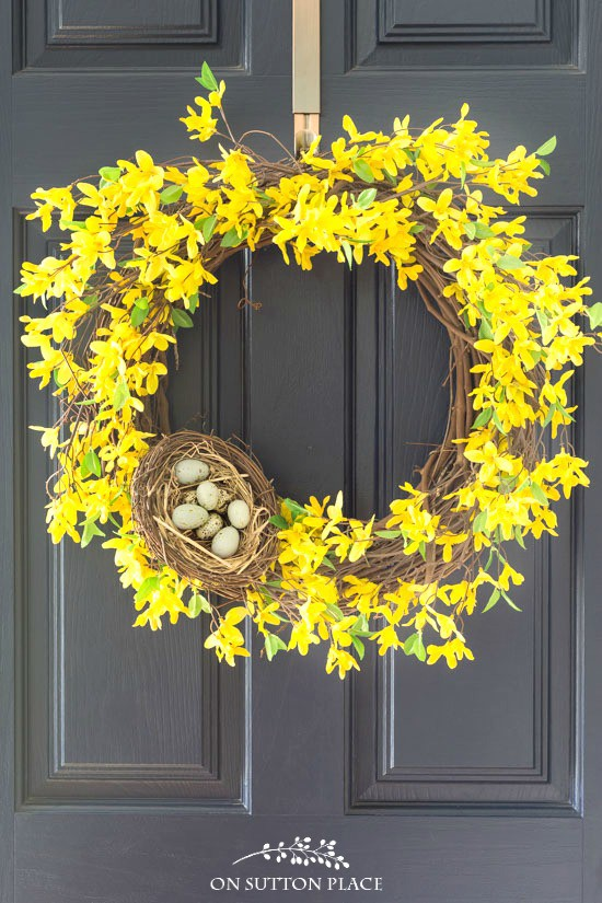 Spring Forsythia Wreath: A Pop of Yellow for Your Door