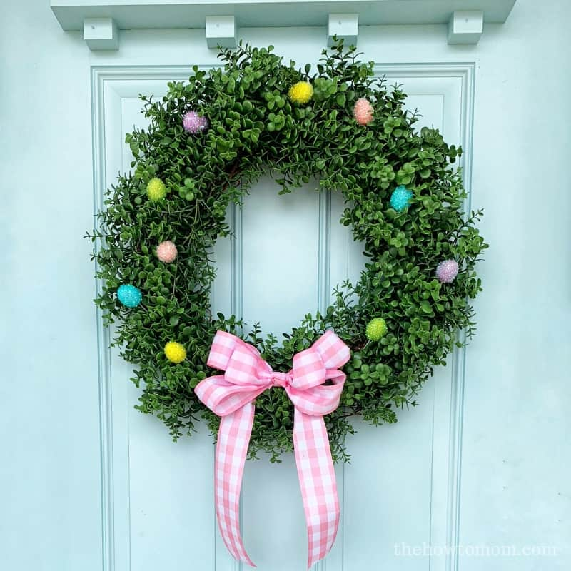 Sweet and Simple Easter Wreath DIY