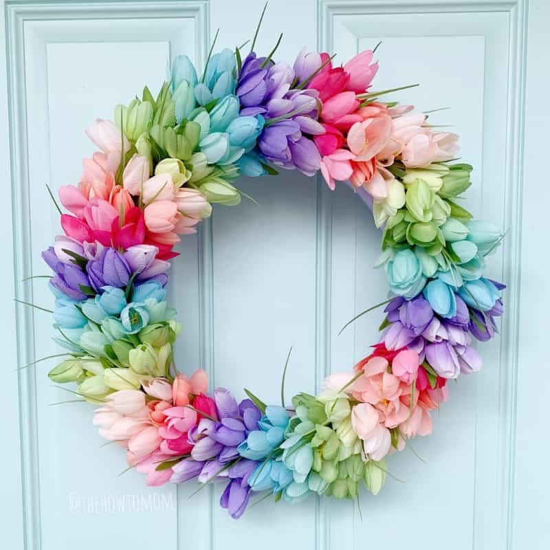 Rainbow Tulip Wreath
