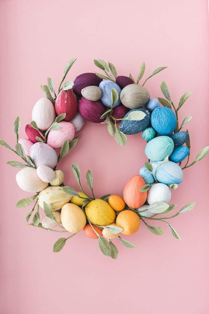 Rainbow Easter Egg Wreath - The House That Lars Built