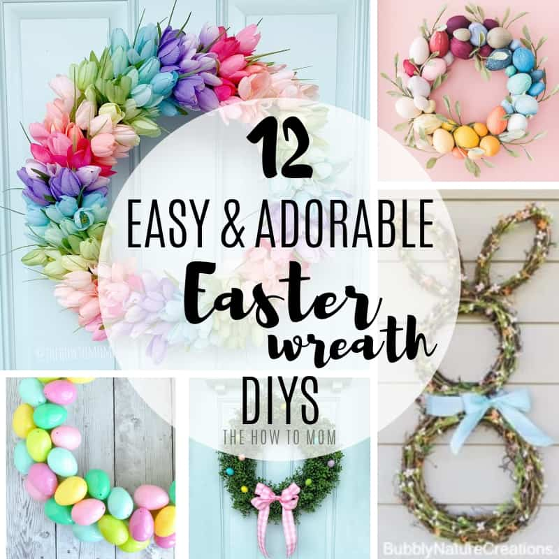 Easy and Adorable Easter Wreath DIY ideas