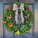 Easy Butterfly Summer Wreath