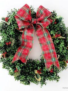 Christmas boxwood wreath