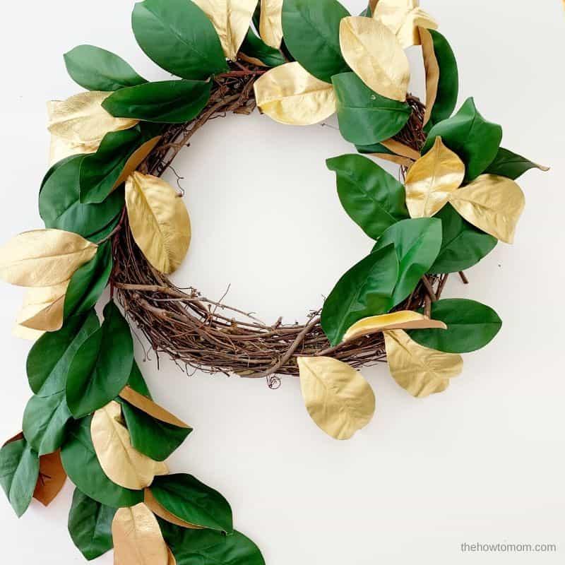 christmas magnolia wreath