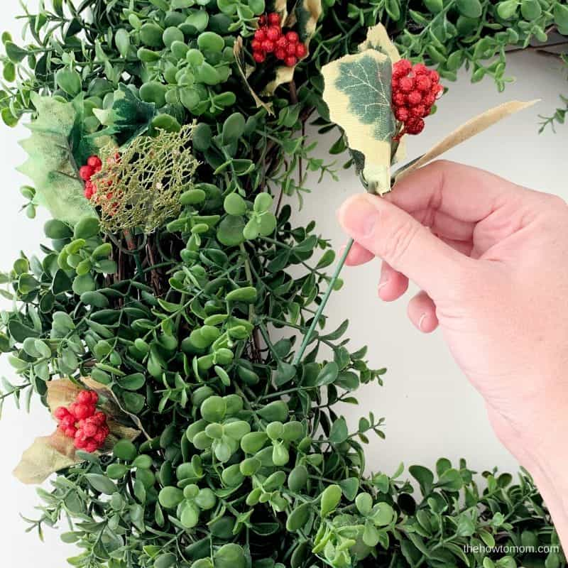 wreath with holly berries