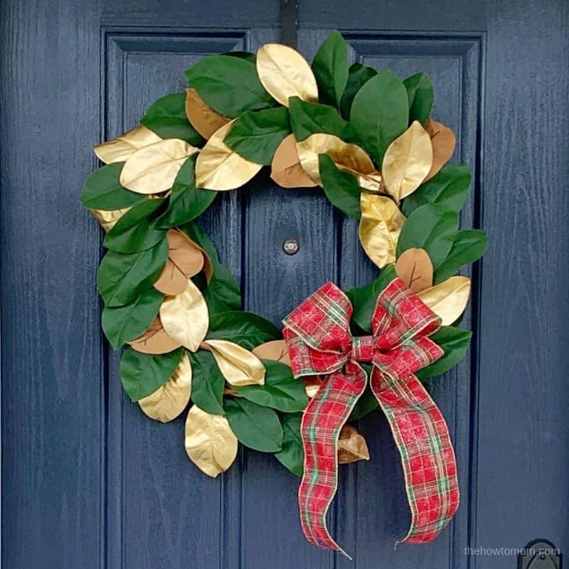 holiday magnolia wreath