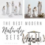modern and minimal nativity sets