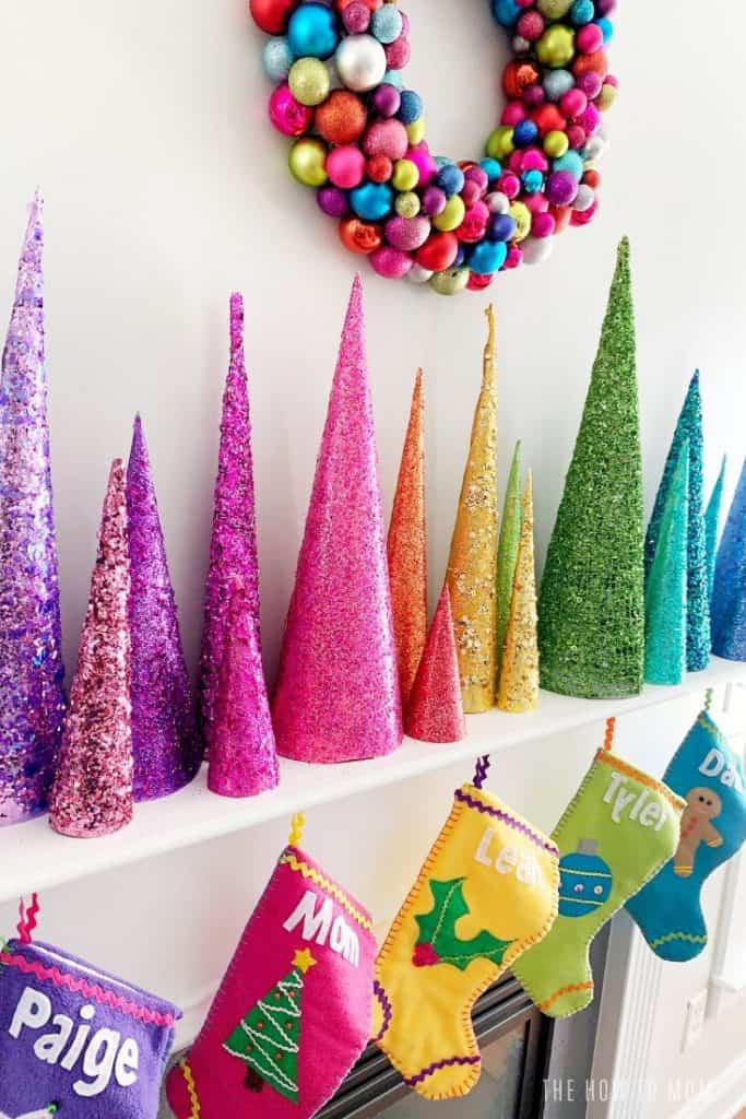 Colorful Diy Christmas Decorations Merry Bright The How To Mom