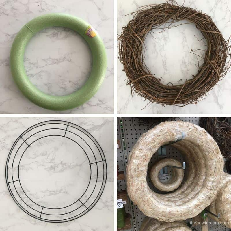 different types of wreath frames