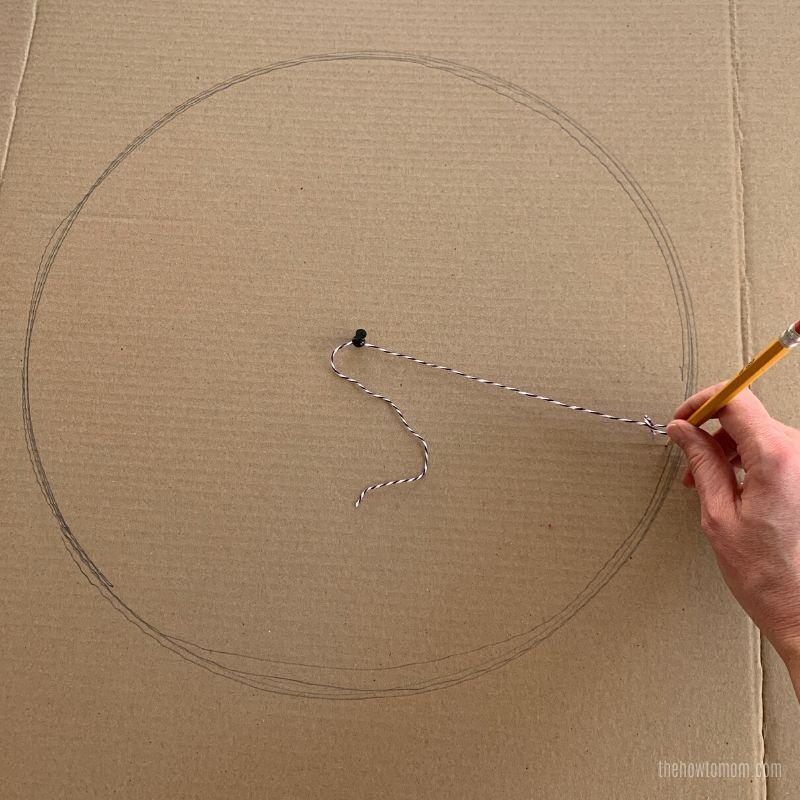 how to make a big perfect circle