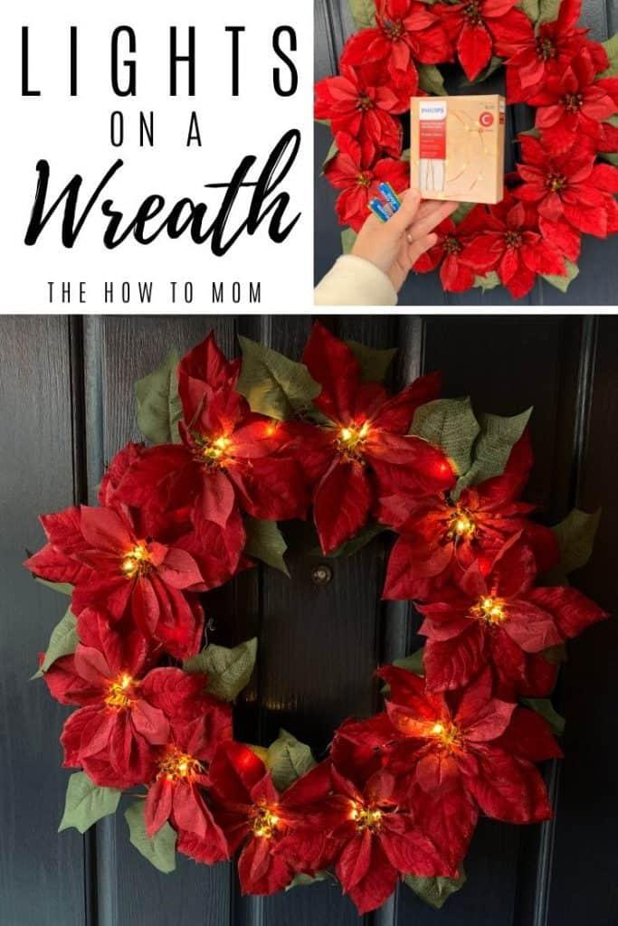 lights on a wreath