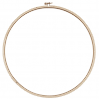 "Loops & Threads"" Wooden Embroidery Hoop"