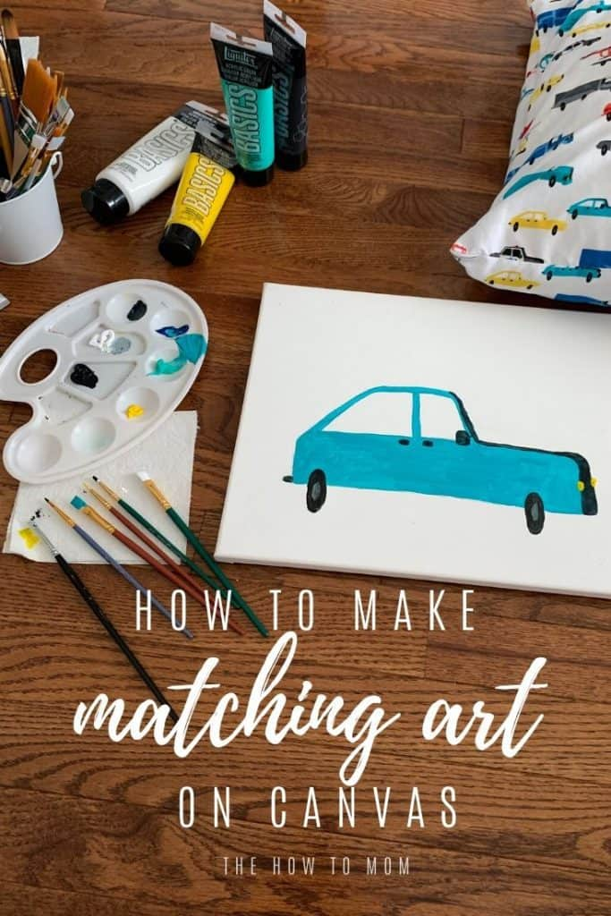 how to make matching art on canvas
