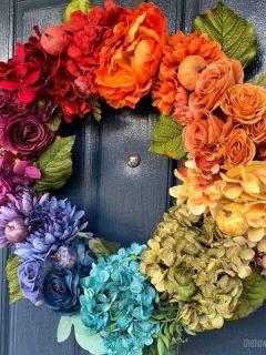 fall rainbow wreath