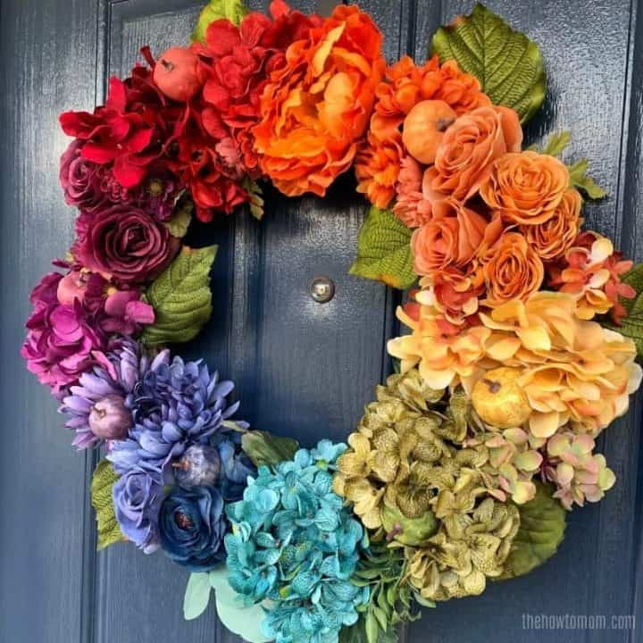 fall rainbow wreath