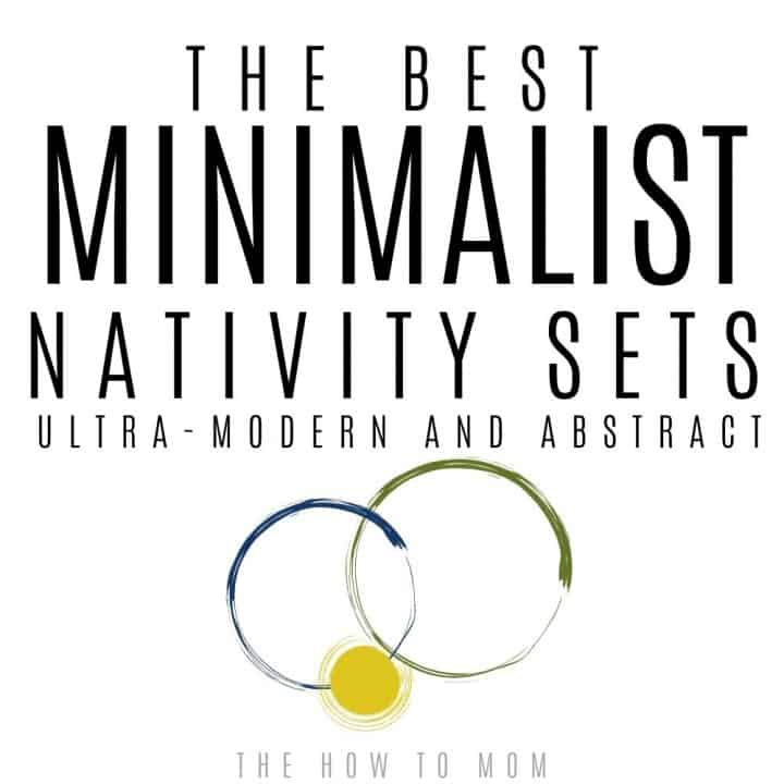 minimalist nativity sets