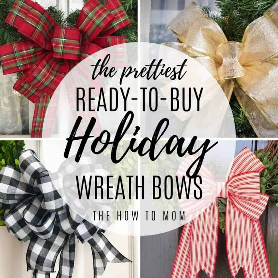 holiday wreath bows