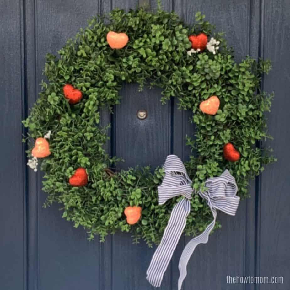 Valentines Boxwood Wreath DIY