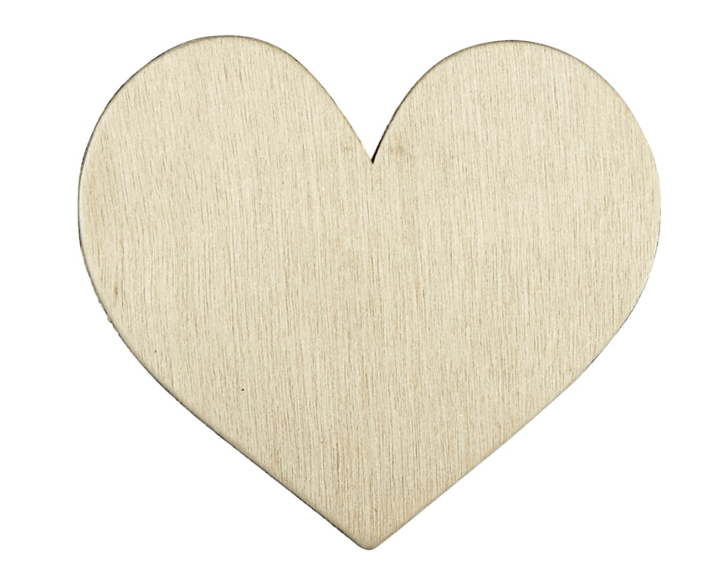 Heart Wood Simple Shape by ArtMinds""