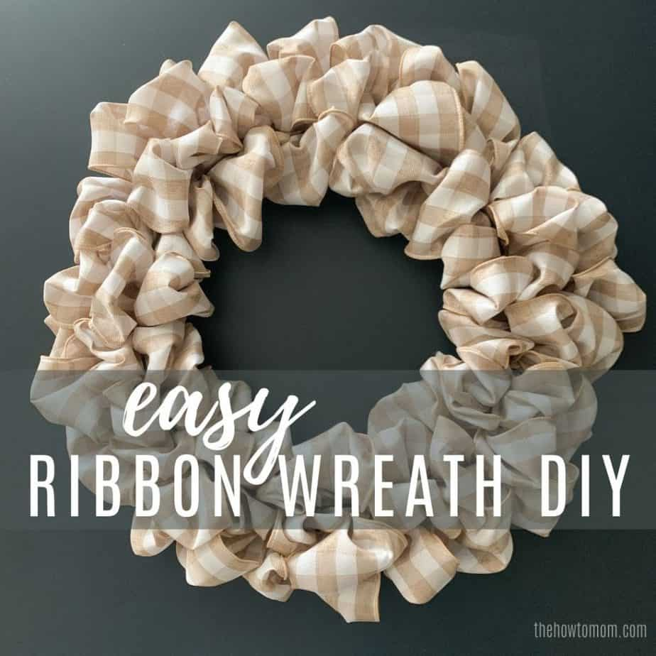 easy ribbon wreath DIY