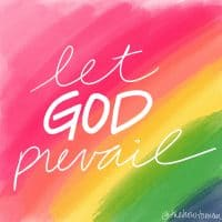 let god prevail rainbow