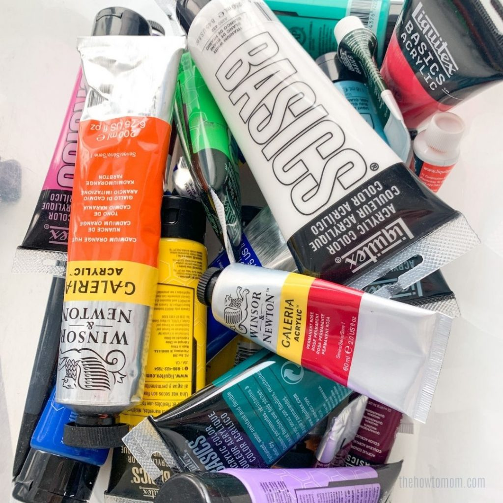 supplies needed for easy canvas painting