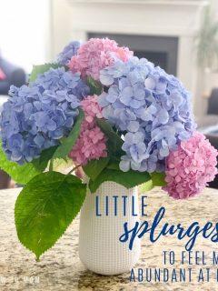 little splurges to feel abundant at home